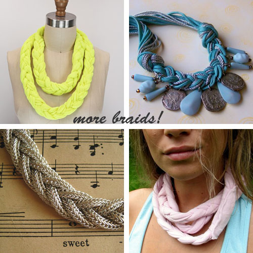 braided necklaces
