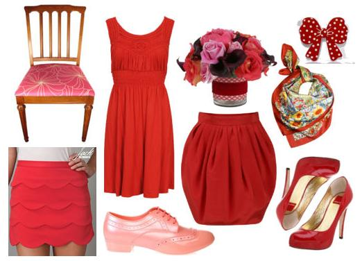 red pink inspiration board