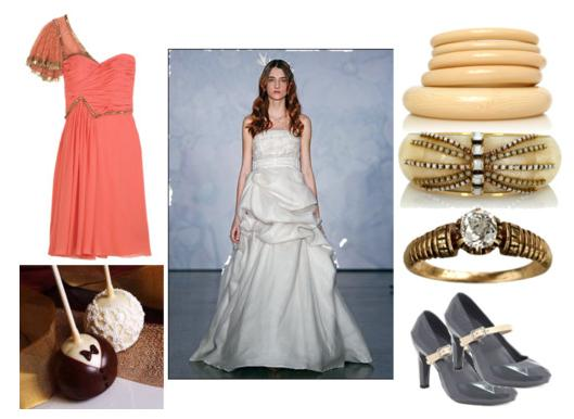 modern vintage wedding inspiration board
