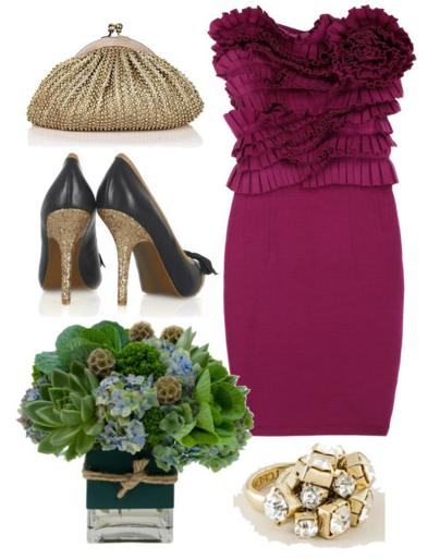 raspberry bridesmaid outfit